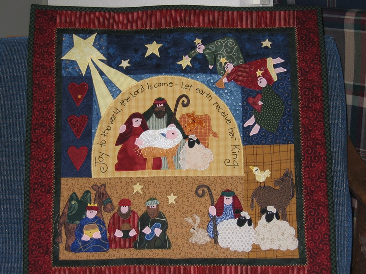 Nativity quilt wall hanging 2005
