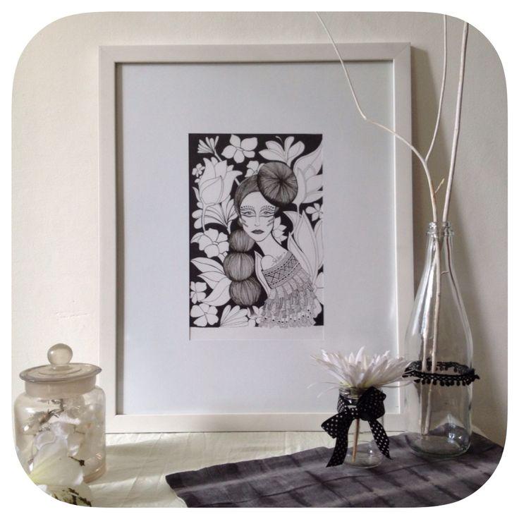 Avantgarde women zentangle for sale   Instagram: @oldhippie_online