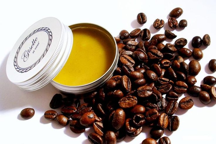 Coffee Lip balm / Main ingredients: Coffee beans butter , coffee, essential oils, beeswax / 100% natural organic product / Giselle et Vous.