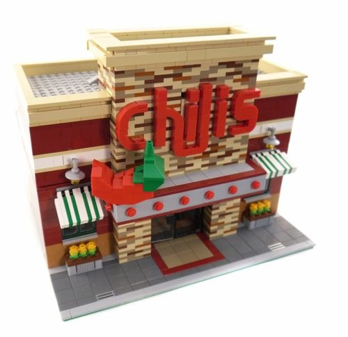 Lego Chili's Restaurant 2.0 - A LEGO® creation by Brian Lyles - Brick City Depot