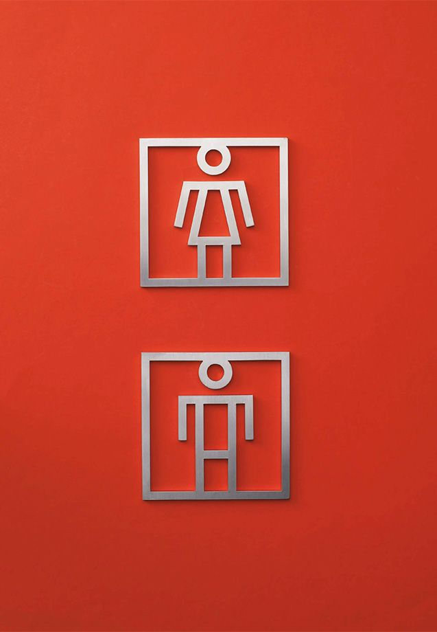 #signage and #wayfinding: Pictos woman and man