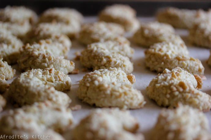 Ergolavi (Cyprus Almond Macaroon Cookies). Gluten Free too! Check out the full recipe here: http://www.afroditeskitchen.com/?p=532