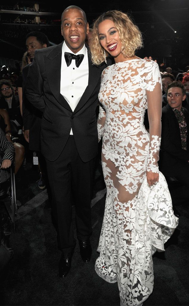 Love this dress...oh to have a body like B!.....Beyoncé & Jay Z from 2014 Grammy Awards: Hottest Couples! | E! Online