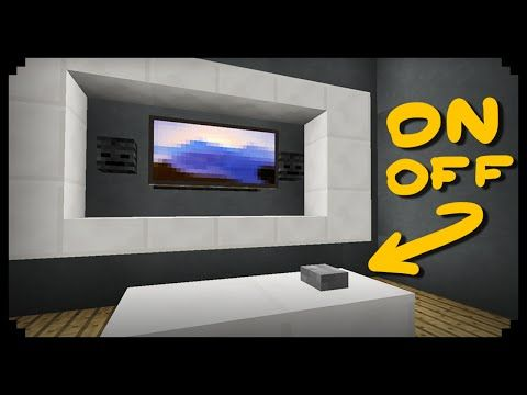 ✔ Minecraft: How to make a Working TV - YouTube