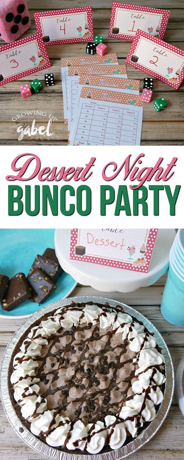 Throw a Bunco Party with FREE printable Bunco sheets & table numbers!