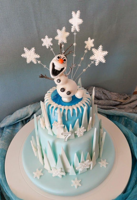 Frozen themed cake made for my daughter!