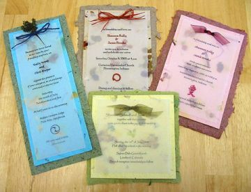 Good Eco Friendly Invitations Made With Recycled Or Plantable Seed Paper,  Chlorine Free Dye