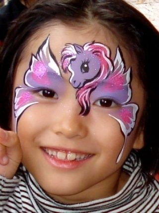 MLP face painting (vintage my little pony look)