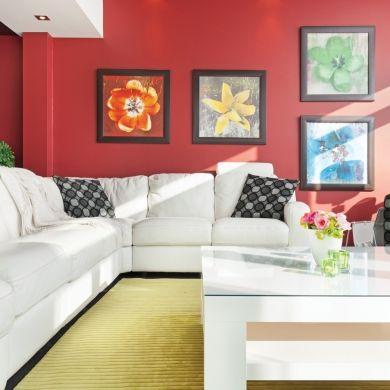 Rouge et vert: couple parfait pour le salon - Salon - Inspirations - Décoration et rénovation - Pratico Pratiques
