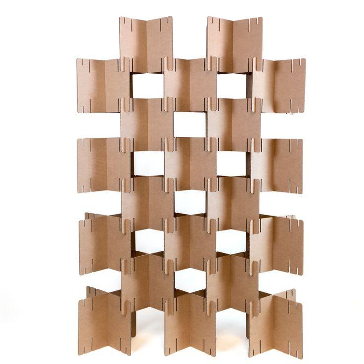 Biombo de cartón modular   Pack 2 uds   Biombos, Paneles ...