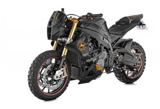 Wunderlich BMW S1000RR Mad Max 26. Off road bike based on S1000RR. Check out those tires.