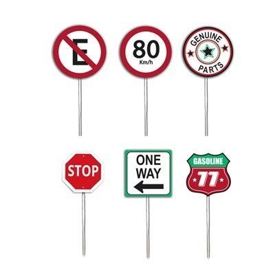Enfeite Palito Pick para Cupcake Garage Route 66 12 unidades Cromus