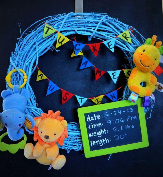 54 best announcement wreath images – Custom Baby Announcements