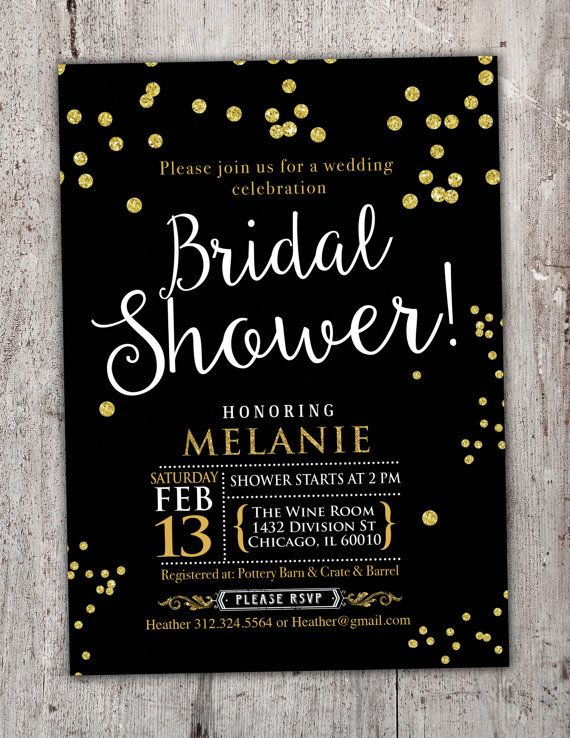 Elegante despedida de soltera invitación boda oro ducha