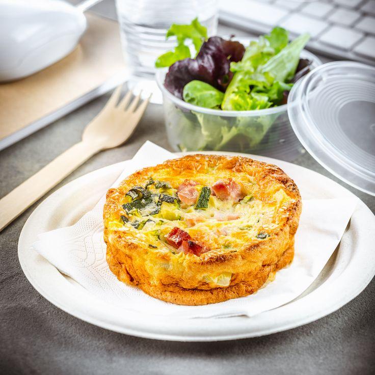déjeuner au travail recette quiche sans pâte jambon et courgettes companion de moulinex lunchbox