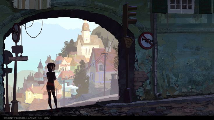 Living Lines Library: Hotel Transylvania (2012) - Visual Development: Color Keys