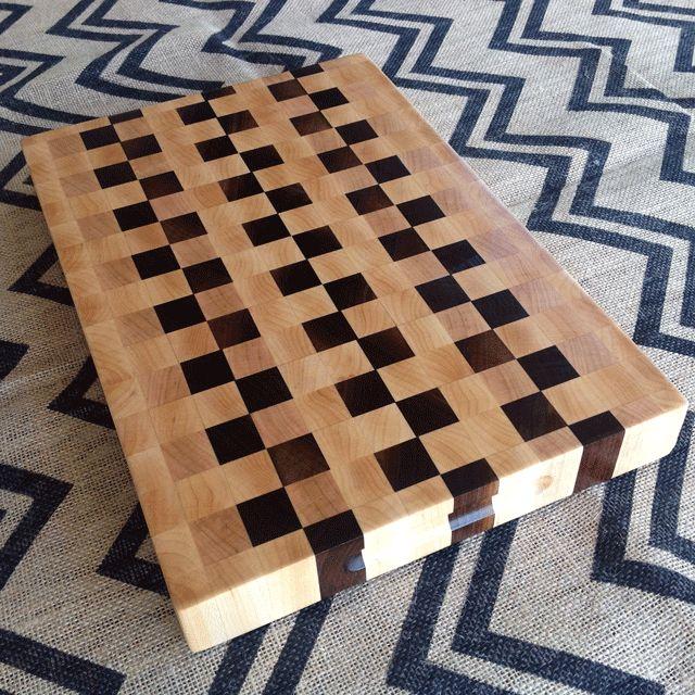 Black-Walnut-and-Maple-end-grain-cutting-board
