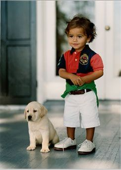 Omg how cute if he~ And perfect little boy outift!