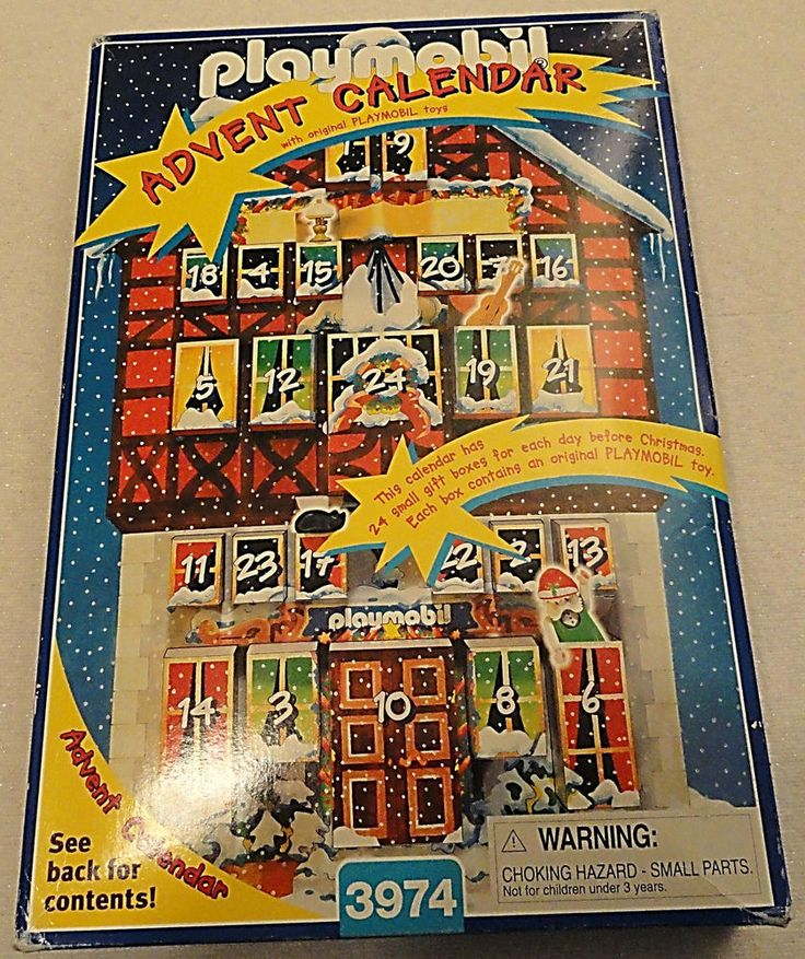 NEW!! Playmobil Advent Calendar 3974 Santa's Elves' Workshop 1997 #PLAYMOBIL
