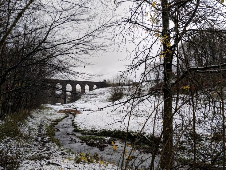 Buxton - The Peak district. First snow of the winter.
