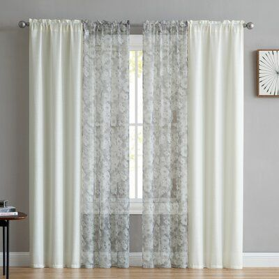 Charlton Home Odriscoll Solid Sheer Rod Pocket Curtain Panels
