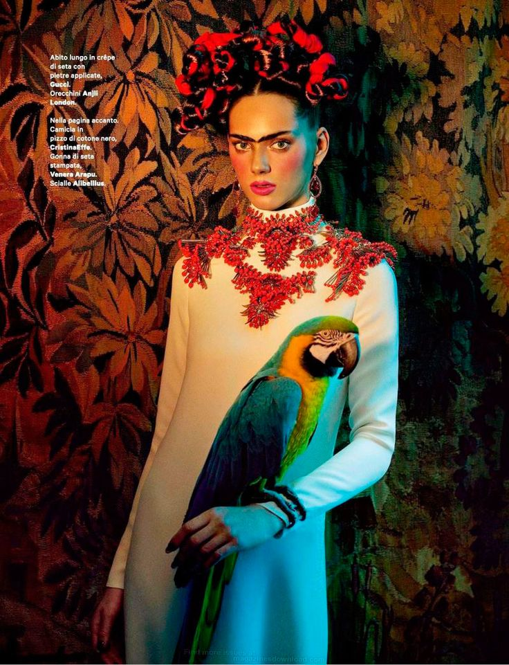 Sandrine & Michael shoot a vibrant editorial inspired by Mexican painter Frida Kahlo.♛    ♛~✿Ophelia Ryan ✿~♛