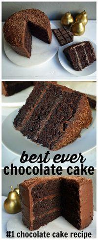 The BEST EVER Chocolate Cake Recipe. The #1 Popular Chocolate Cake Recipe with a 5 Star Rating. This is the only chocolate cake recipe you will ever need. www.modernhoney.com