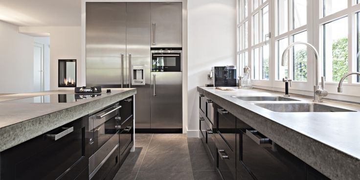 Zwarte klassiek moderne keuken google zoeken keuken pinterest chang 39 e 3 - Moderne keuken deco keuken ...