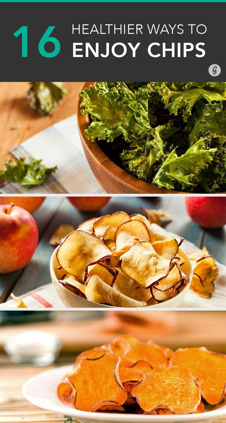 16 Healthier Ways to Satisfy Any Chip Craving #recipes #healthy #chips