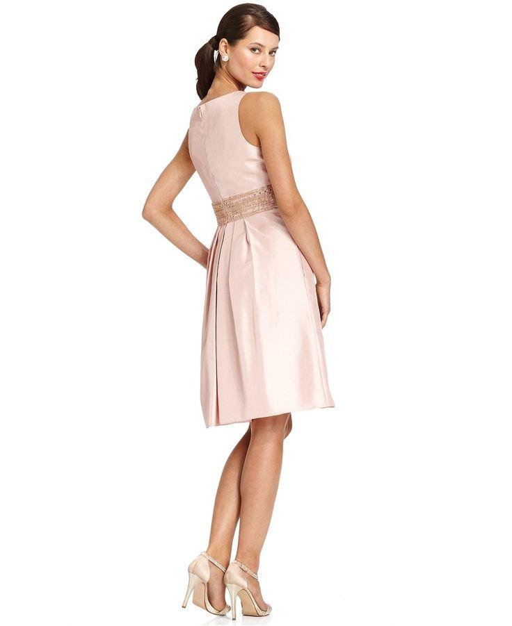 JS Boutique Dress Sleeveless Sequined Beaded A Line Womens Dresses Macys Wea