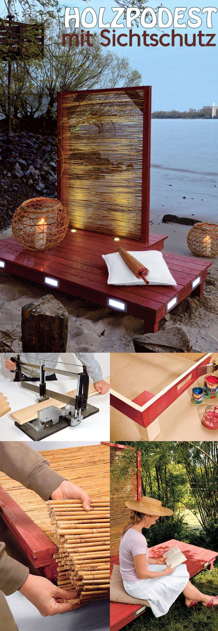 Die besten 25 japanische g rten ideen auf pinterest japanisches garten design japanische - Holzpodest garten ...