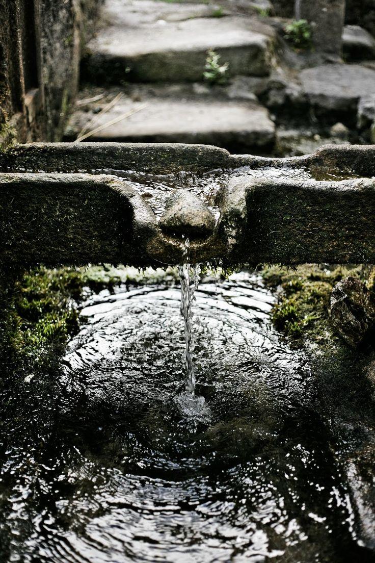Old fountain in Galiza.