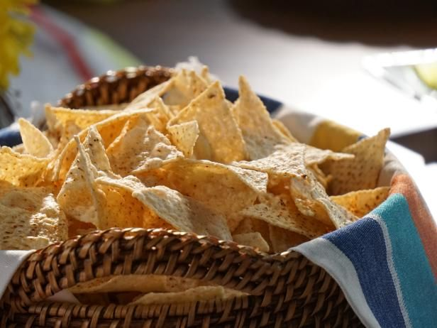 Warmed and Spiced Tortilla Chips