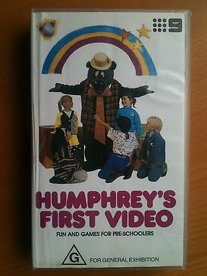"HUMPHREY B BEAR ~ ""HUMPHREY'S FIRST VIDEO""~ VHS VIDEO ~ VERY RARE"