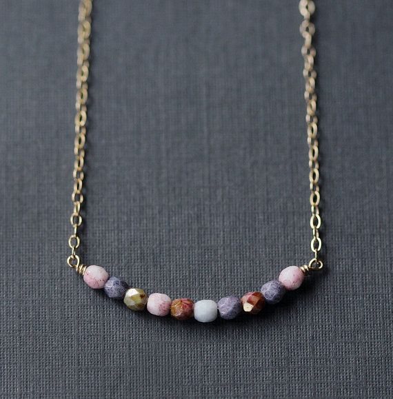 prisma multicolor beaded necklace by elephantine on Etsy