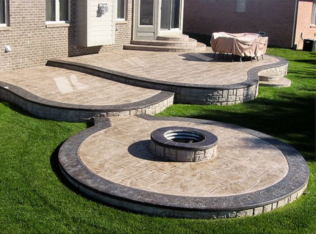 77 best concrete stamp patterns images on pinterest | stamped ... - Backyard Concrete Patio Ideas