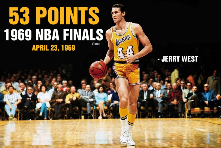 April 23, 1969 - Jerry West of Los Angeles scored 53 points as the Lakers edged Boston 120-118 in Game 1 of the NBA Finals, a series won by the Celtics in seven games. The 53 points by West ranked as the highest-scoring game by a guard in NBA Finals history, before Chicago's Michael Jordan scored 55 points against Phoenix in Game 4 of the 1993 Finals, a 111-105 Bulls win over the Suns.