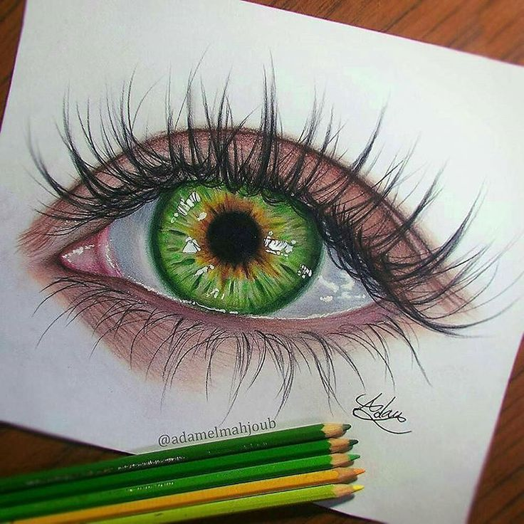 поддержания стабильности картинки с зелеными глазами с карандашом семенович