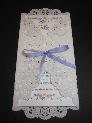 Fazendo a Minha Festa Infantil: Convite para Primeira Comunhão ou Batizado com Envelope de Doily!