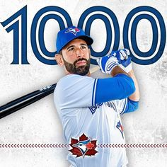 Congratulations to José Bautista for reaching 1,000 hits with the BlueJays! Apr 30, 2017