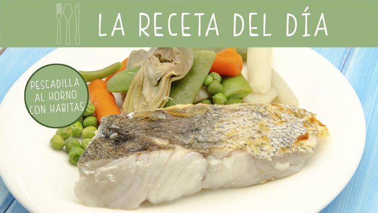 La pescadilla es un alimento muy sano para los #bebés y #niños. Prepara esta #receta de pescadilla al horno con habitas.