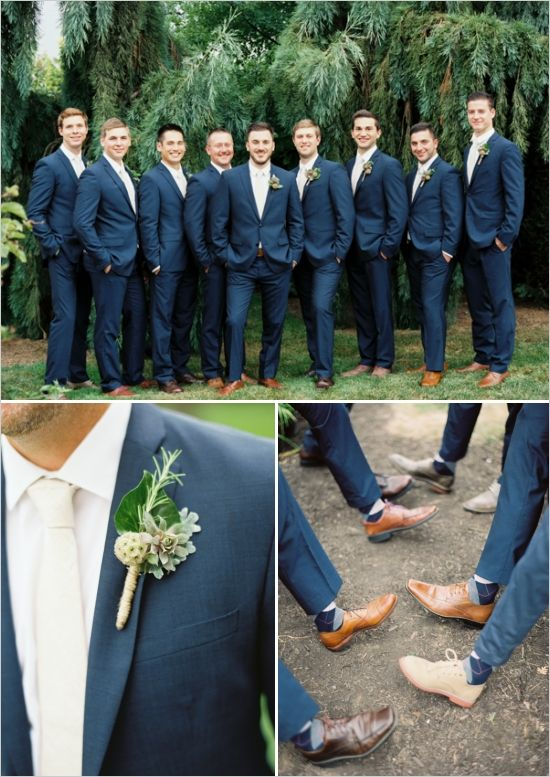 My wedding; Full wedding post (including budget breakdown). Check out: Groomsmen in blue, also the decor