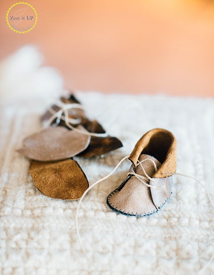 DIY Leather Baby Moccasins   Leather