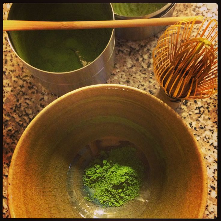 Morning Matcha in the making!