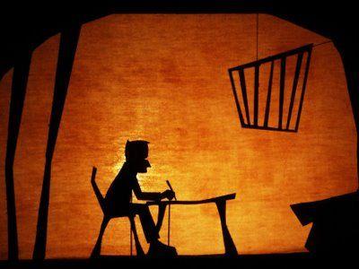 décors pour théâtre d'ombres chinoises silhouettes
