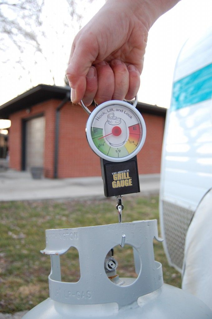 The Grill Gauge - weigh propane tank to know how much gas is left. Smart!