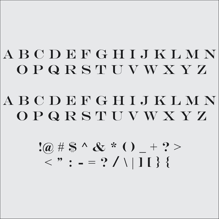 Customizable Engravers Font Letter Decals, Wall Letterings, Trendy Wall Designs