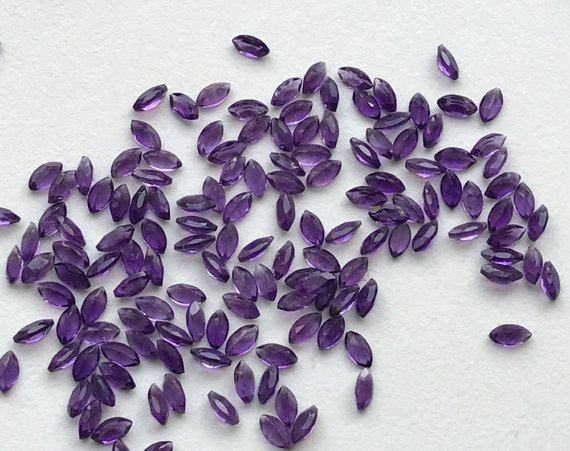 WHOLESALE 5 Ct 20 Pcs Amethyst Marquise Cut Stone by gemsforjewels