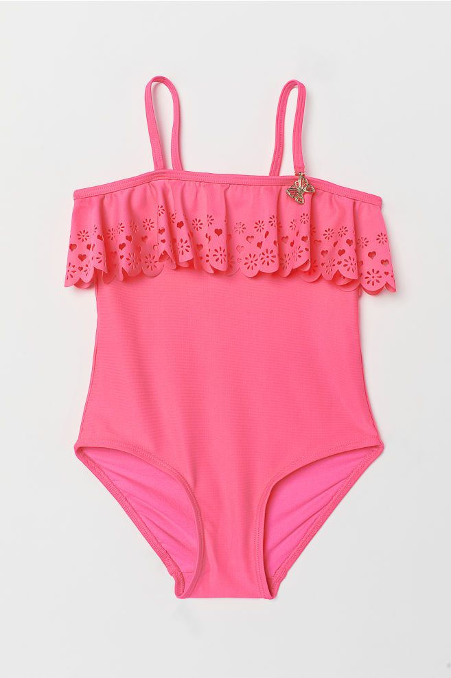 771d13598be Frill-trimmed swimsuit | Girls Clothes | Ruffle trim, Swimsuits και ...