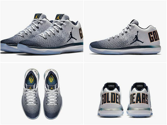 Youth Big Boys Air Jordan XXX1 Low Cal NCAA White Amarillo College Navy  897564 118 ef45a5fb6b